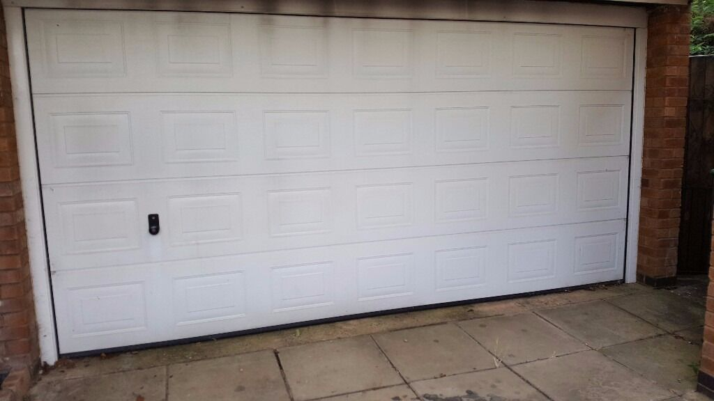 electric garage doorHormann Automatic Electric Garage Door 14x 7 double width