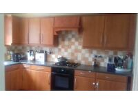 Complete kitchen with cooker, hob, integrated fridge and dishwaher
