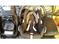 Maxi cosi cabriofix car seat plus Maxi cosi ISOFIX base, from birth to 13kg
