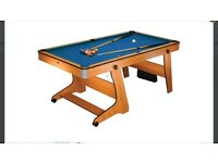 BCE 6ft Folding Pool Table with Cues & Balls