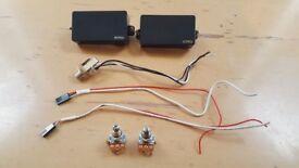 EMG 81 and EMG 85 Active Humbucker Pickup Set + Jack + Pots + Wires