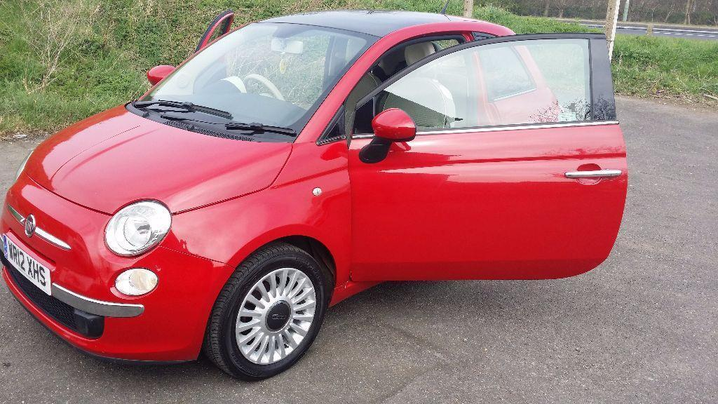 2012 fiat 500 lounge 1 3 manual red bluetooth stop start in rainham london gumtree. Black Bedroom Furniture Sets. Home Design Ideas