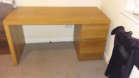 Large beechwood desk great condition