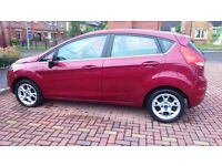 Low Mileage Ford Fiesta Zetec 1.2 Petrol 5 Door Hot Magenta 2012 (61 plate) small car for sale