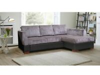 *SOFA BED * BRAND NEW UNIVERSAL FABRIC CORNER STORAGE SOFABED IN DOUBLE BED TWO COLORS -SAME DAY