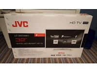"JVC 32"" Smart TV, BRAND NEW in packaging"
