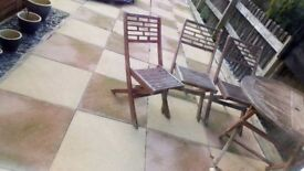Garden/patio Table and 3 Chairs