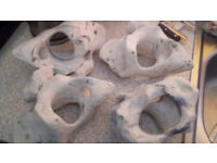 artificial texas holey rock. 4 x large pieces.