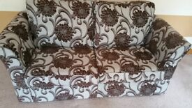 Two Seater Pattern Sofa Bed New