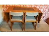Gangso Mobler retro Danish drop leaf table and 4 chairs