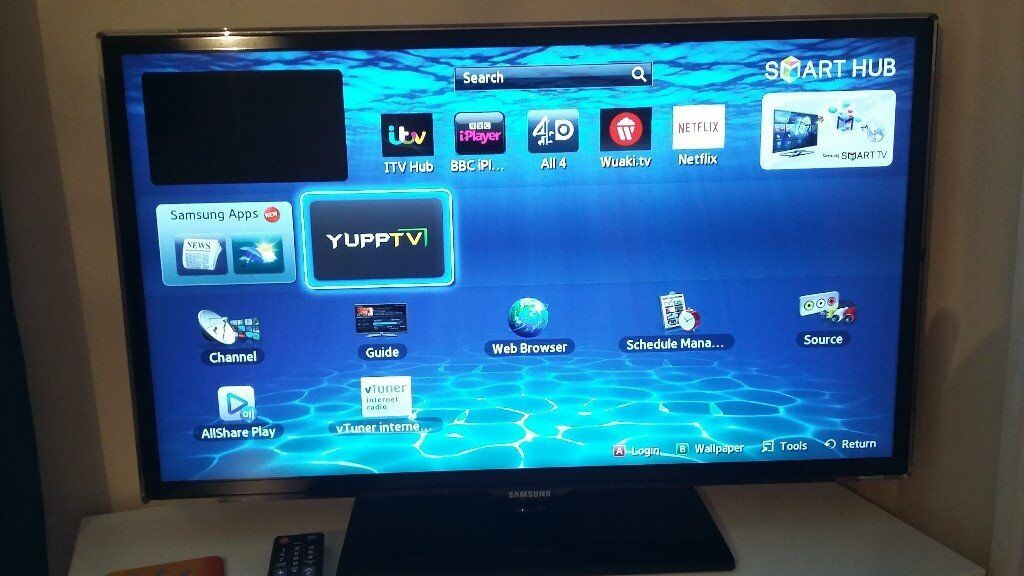 32 inch Samsung LED TV (Smart – Wi-fi – Requires 'Samsung Wireless LAD Adaptor' – which is Included)