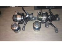 2 rods and reels and holdall