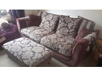 3 seater SCS sofa in very good condition including matching footstool.