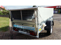 NEW Car trailer CAGE / MESH 6,8ft x 3,8ft 750kg GVW + FULL COVER