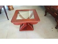 Square Mahogany Coffee Table in Excellent Condition
