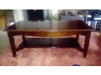 coffee table - solid wood