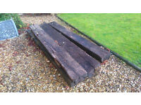 9 railway sleepers- free to person willing to take them away
