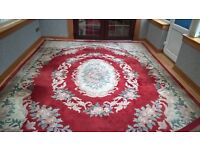Superwashed Red Chinese Rug !