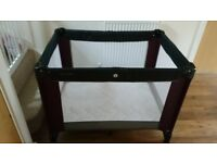 Mamas and Papas folding travel cot with carry case and mattress