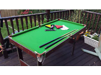 "pool table 4'6""x 29"" approx"