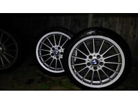 Bmw style 32 alloys staggered.