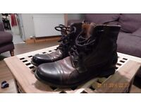 Mens Steven Madden Triggah Leather Ankle Boot Size 9