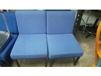2 x Blue Reception Seating Chairs