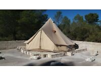 5m Pro Bell Tent with Anevay 4kW Traveller Stove Installed