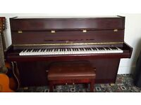 Upright Cranes Piano with stool