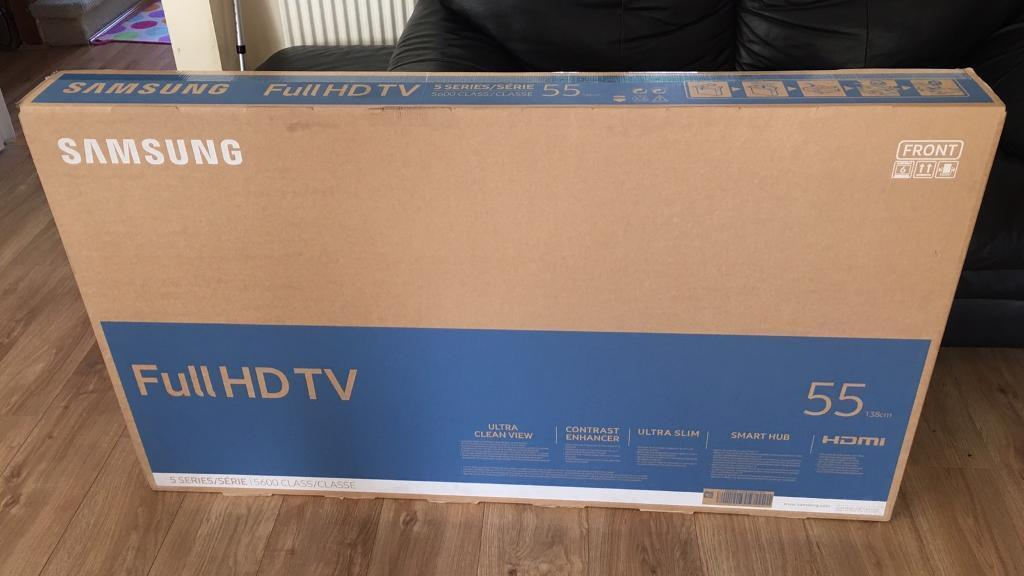 Samsung 55 Inch Led Smart Tv Brand New In Sealed Box 12 Months