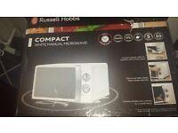 Russell Hobbs compact white Microwave 17L - BNIB