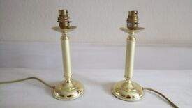 Pair of gold lamp bases
