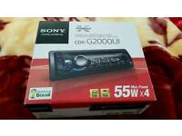 Car Stereo Sony X-Plod CDX-G2000UI 55w X4 Aux,Mp3,USB,CD Complete