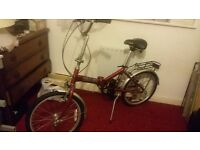 "Folding Bike, New Velocity, 20"" quick sale !"