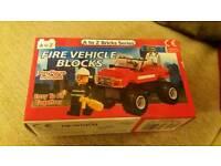 Fire Vehicle Construction Blocks