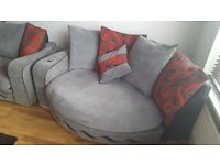 Large 2 seat sofa and large snuggle sofa with built in phone/ipod sound system.