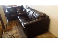 Brown faux leather suite (3+2) - Delivery available