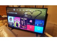 LG 49-Inch SUPER SMART 4K HDR PRO ULTRA HD LED TV,Built-in Wifi,Freeview HD,Excellent condition