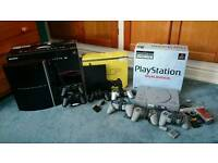 PlayStation 1 boxed with 71 games