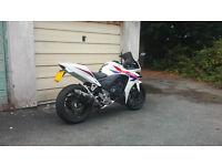 Honda CBR500R ABS 2013 White Low Miles