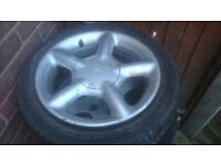 Ford escort mk6 gti alloy wheel 195/50r15 tyre