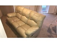 3 Seater Leather Sofa (FREE)