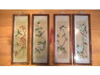 Set of 4 Oriental pictures