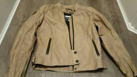 Triumph leather cafe racer jacket