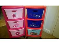 Kids plastic drawers