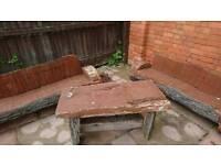 Hand crafted garden furniture
