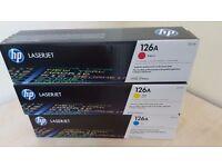 HP CF341A 126A Original LaserJet Toner Cartridges - Cyan/Magenta/Yellow (Pack of 3)