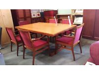 Large office boardroom table with 6 chairs (2 available)