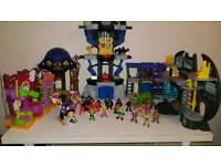 Imaginext batman caves figures toys rare pirate ship set