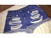 Blue primark shorts